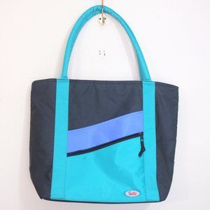 90's colour block insulated tote bag reusable